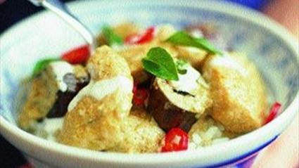 Köfte Ve Beyaz Fasulye çorbası