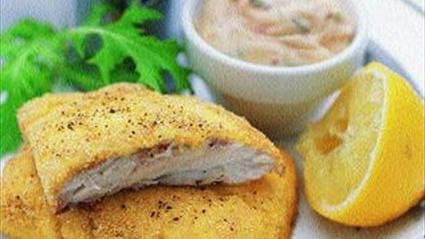 Myonez Ve Taze Soğanlı çıtır Balık Filetosu