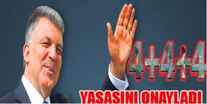 GÜL'DEN 4+4+4'E ONAY