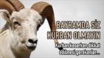 KURBAN BAYRAMI'NDA